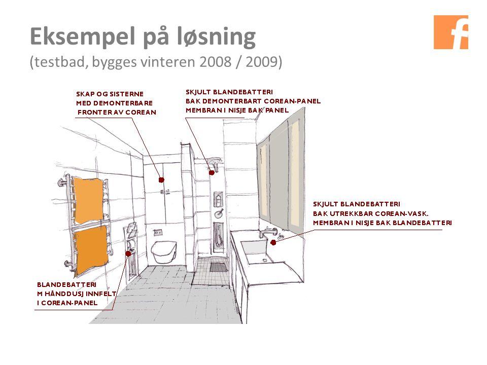 Eksempel på løsning (testbad, bygges vinteren 2008 / 2009)
