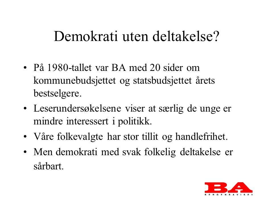 Demokrati uten deltakelse.