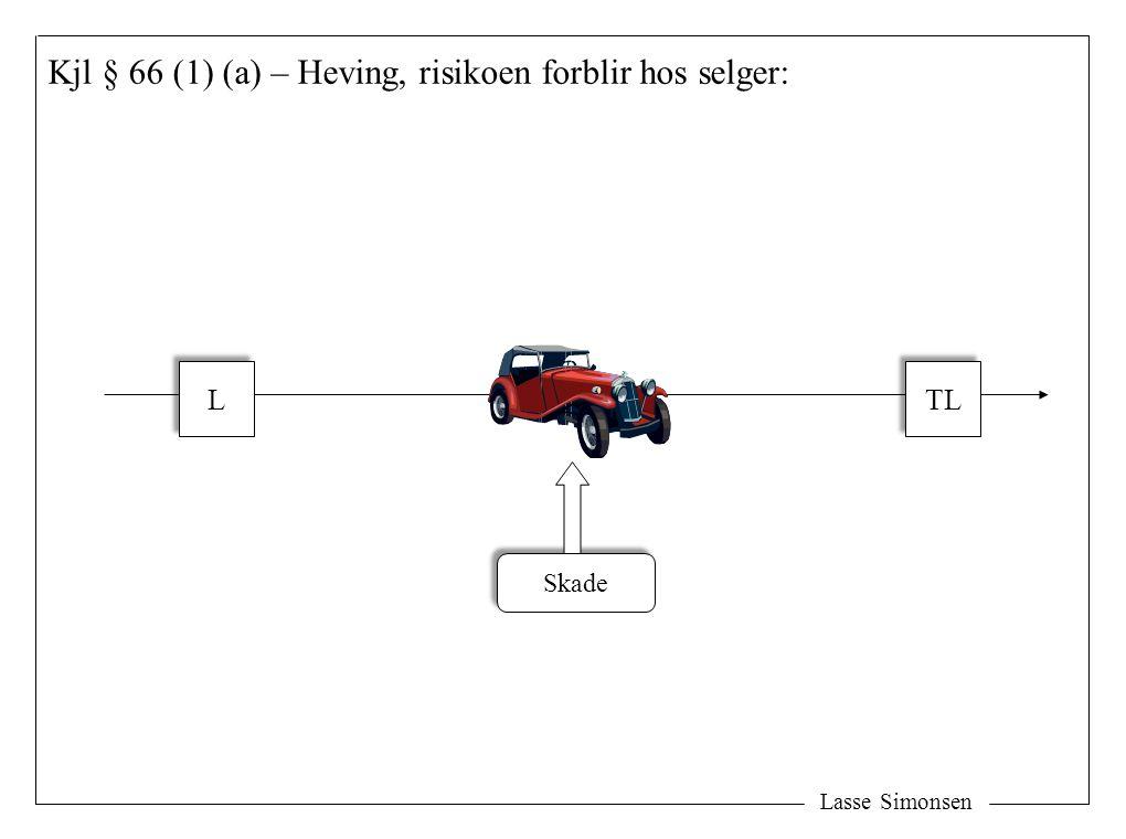 Lasse Simonsen Kjl § 66 (1) (a) – Heving, risikoen forblir hos selger: L L TL Skade