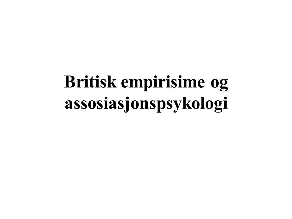 Britisk empirisime og assosiasjonspsykologi