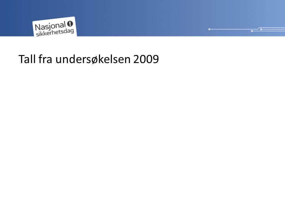 Tall fra undersøkelsen 2009