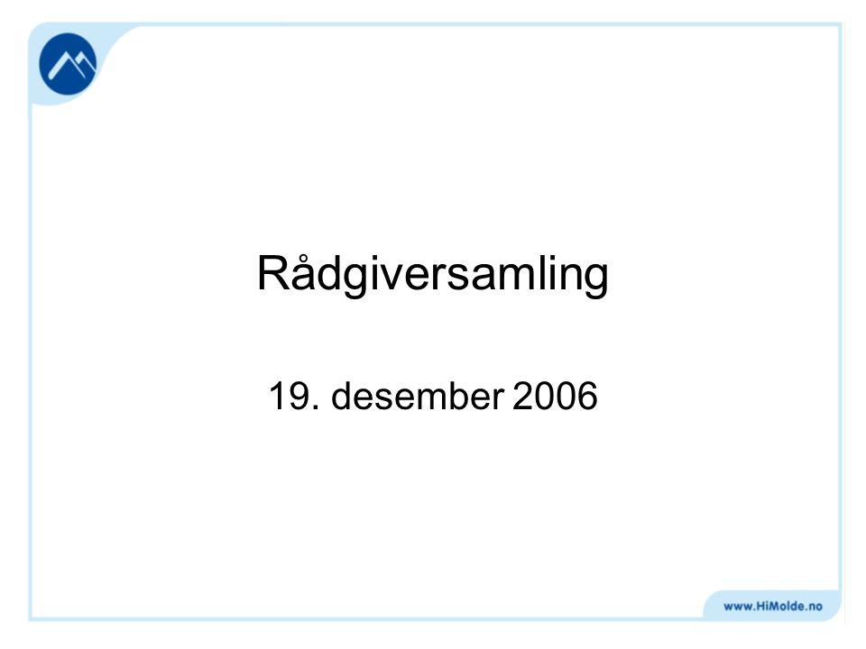 Rådgiversamling 19. desember 2006