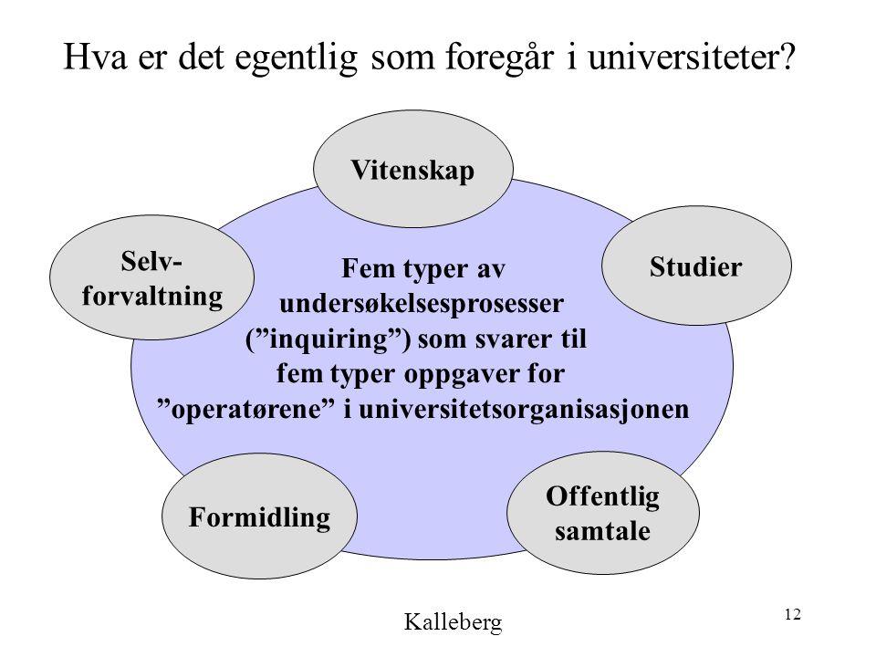 12 Hva er det egentlig som foregår i universiteter.