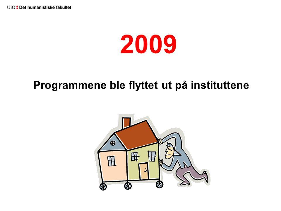 2009 Programmene ble flyttet ut på instituttene