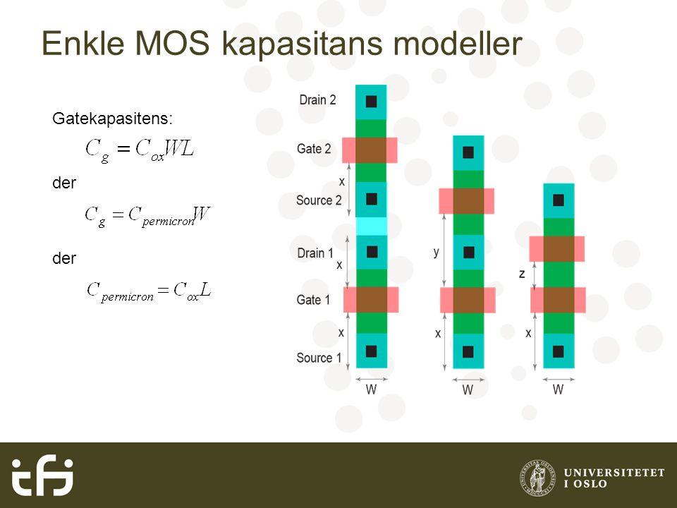 Enkle MOS kapasitans modeller Gatekapasitens: der
