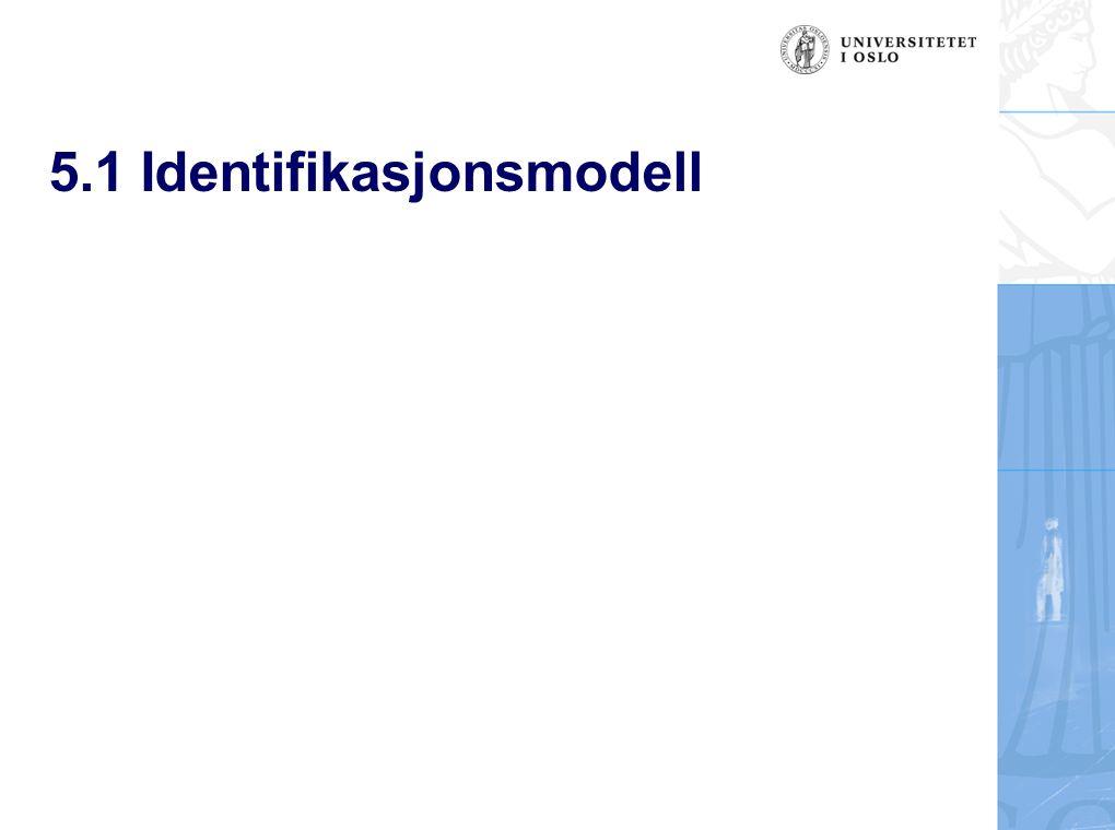 5.1 Identifikasjonsmodell