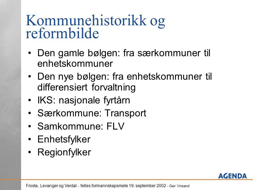 Frosta, Levanger og Verdal - felles formannskapsmøte 19.