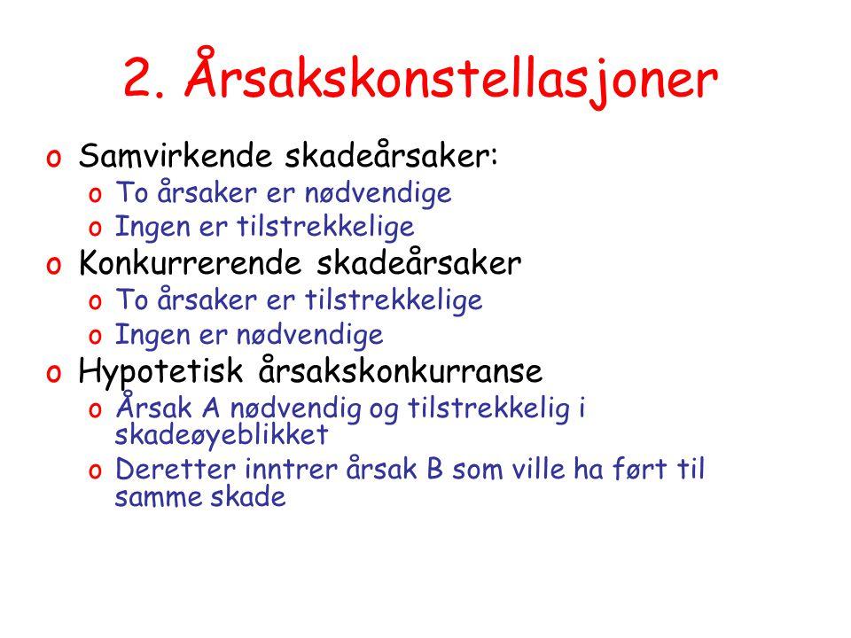 19.08.2014Trine-Lise Wilhelmsen56 5.2 Hypotetisk ytre årsak etc oResultatet av dommene = Ikke ansvar etter at årsak 2 tilstrekkelig oAutomatisk følge av betingelseslæren.