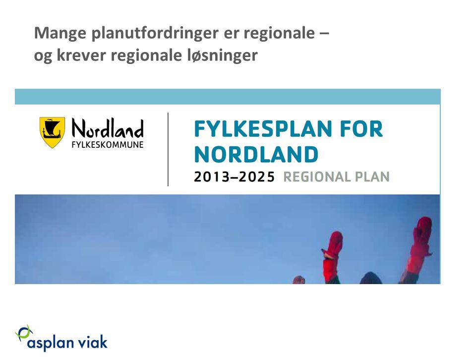 Mange planutfordringer er regionale – og krever regionale løsninger