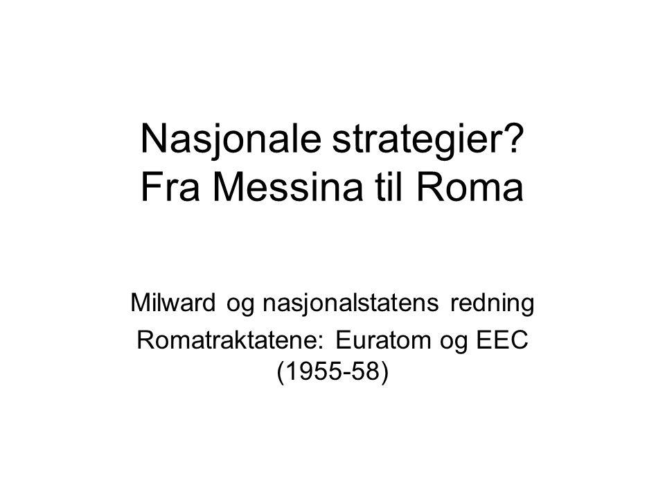 Nasjonale strategier.