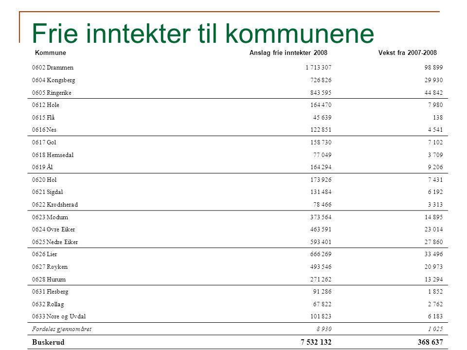 Statsbudsjettet 2008 Viktige satsninger i Buskerud Miljø og kulturminnevern Verneplan for Oslofjorden – delplan sjøfugl, som omfatter alle fylkene rundt Oslofjorden, gjennomføres.