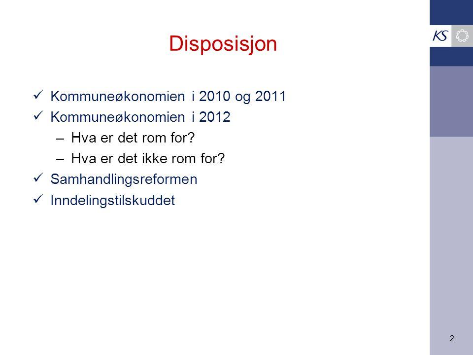 3 Kommuneøkonomien i 2010 og 2011