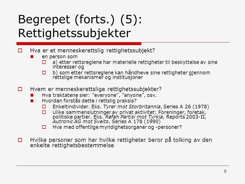 20 Kilder/metode (forts): EMK-rettens kilde- og metodelære (3)  Hvilke kilder kjenner EMK-retten.