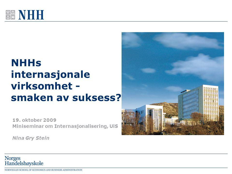 NHHs internasjonale virksomhet - smaken av suksess.