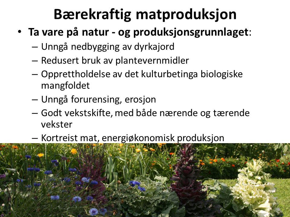 Motkrefter til bærekraftig matproduksjon.