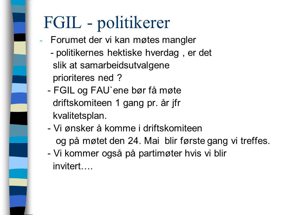 FGIL – framtidsønsker .( 1 ) 1.