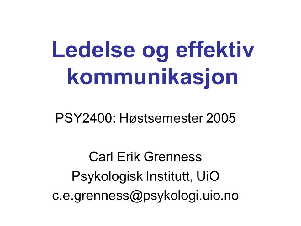 Definisjon av påvirkning Huczynski 2004 The ability to affect another`s attitudes, beliefs or behaviors – seen only in its effect – without using coercion or formal position, and in a way that influencees believe that they are acting in their own best interest Forutsetter awareness, fleksibilitet og kontroll