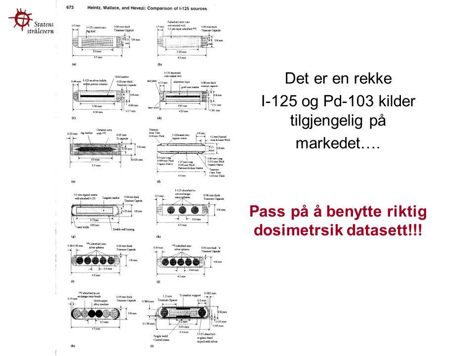 Jack Venselaar Det er en rekke I-125 og Pd-103 kilder tilgjengelig på markedet….