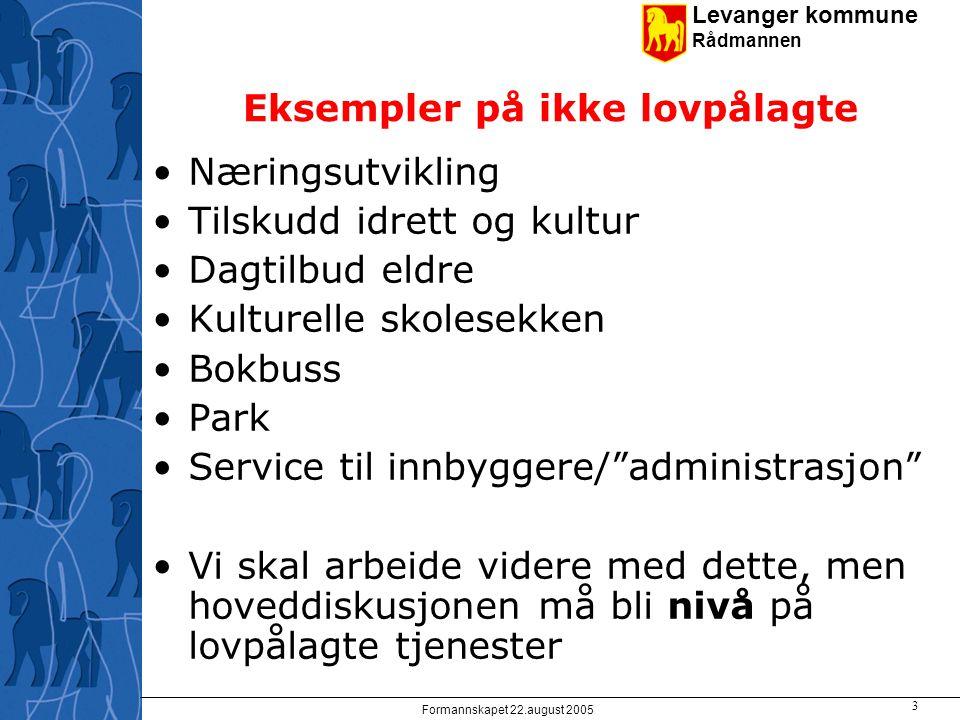 Levanger kommune Rådmannen Formannskapet 22.august 2005 4 Gruppebesvarelsene 15.06 - Strategiske utfordringer Gruppe 1 Bringe økonomien i balanse, gjenvinne øk.