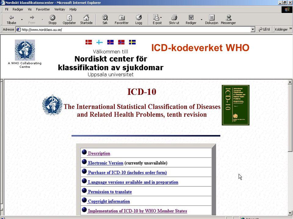 ICD-kodeverket WHO