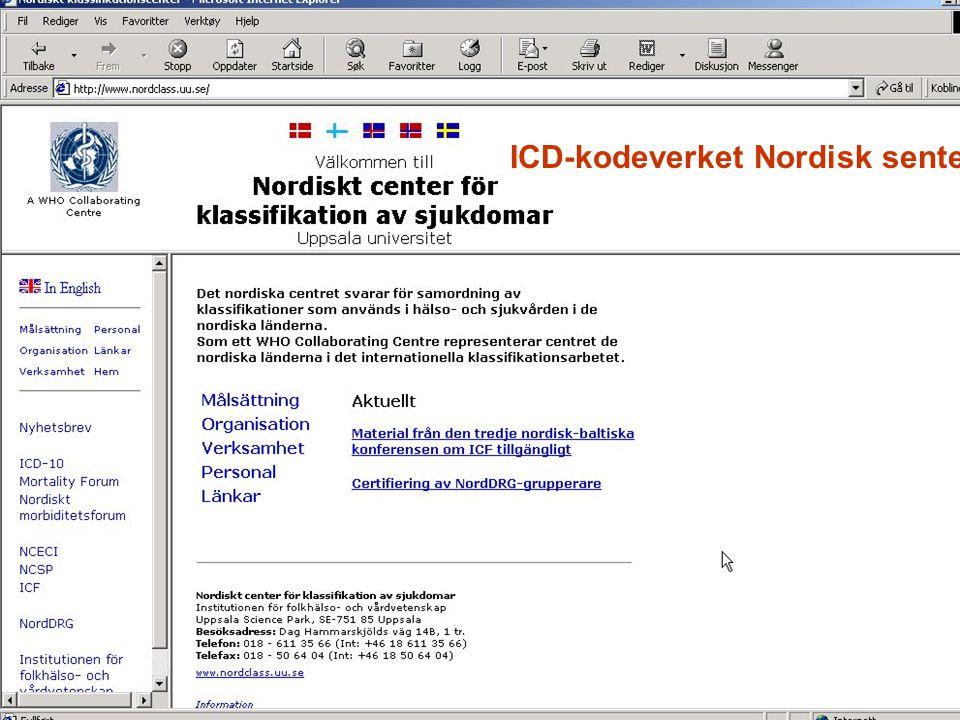 ICD-kodeverket Nordisk senter