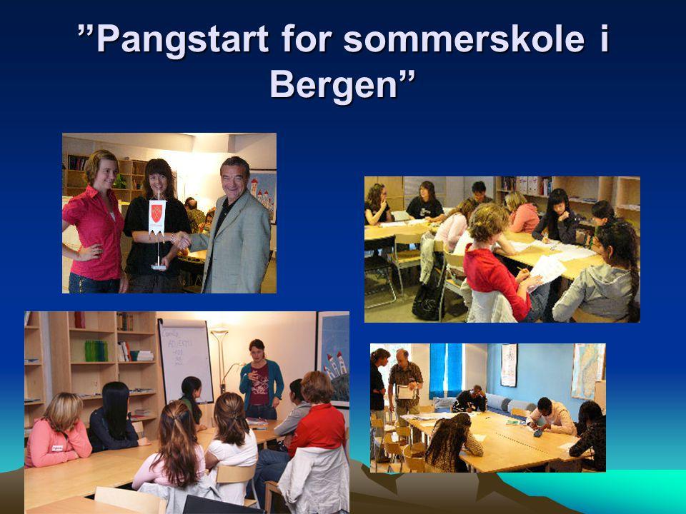 """""""Pangstart for sommerskole i Bergen"""""""