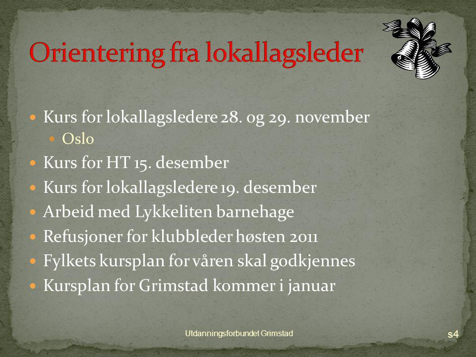 s3 Utdanningsforbundet Grimstad