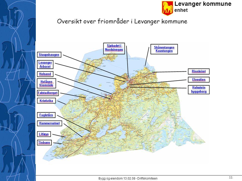 Levanger kommune enhet Bygg og eiendom 13.02.08 - Driftskomiteen 11 Oversikt over friområder i Levanger kommune