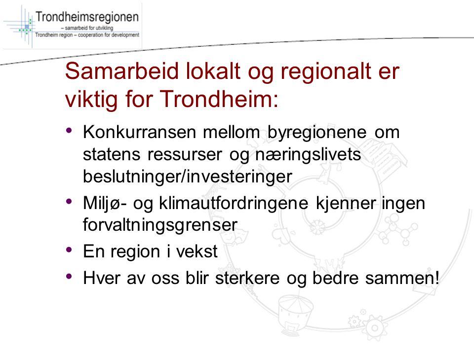 Samarbeid lokalt og regionalt er viktig for Trondheim: Konkurransen mellom byregionene om statens ressurser og næringslivets beslutninger/investeringe