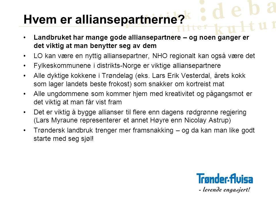 Landbruket og mediebildet Oppslaget i DN i går var: Full splid i matkjedeutvalget .