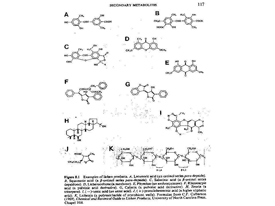 Kjemi Ofte 2-4 stoffer i hver art Ofte lokalisert til f.eks.