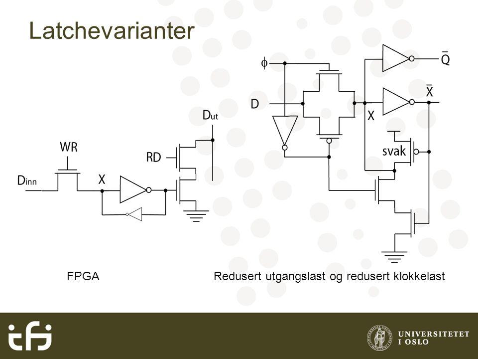 Latchevarianter FPGARedusert utgangslast og redusert klokkelast