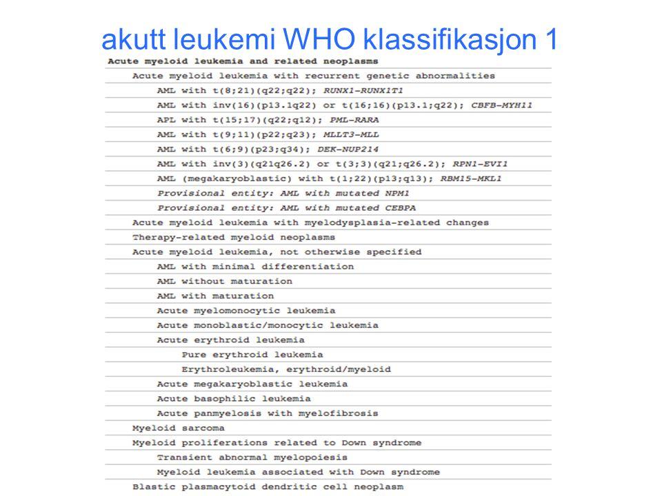 akutt leukemi WHO klassifikasjon 1