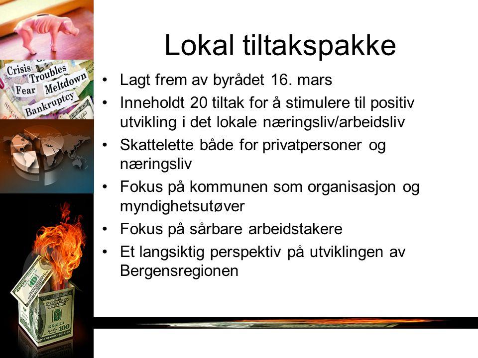 Lokal tiltakspakke Lagt frem av byrådet 16.