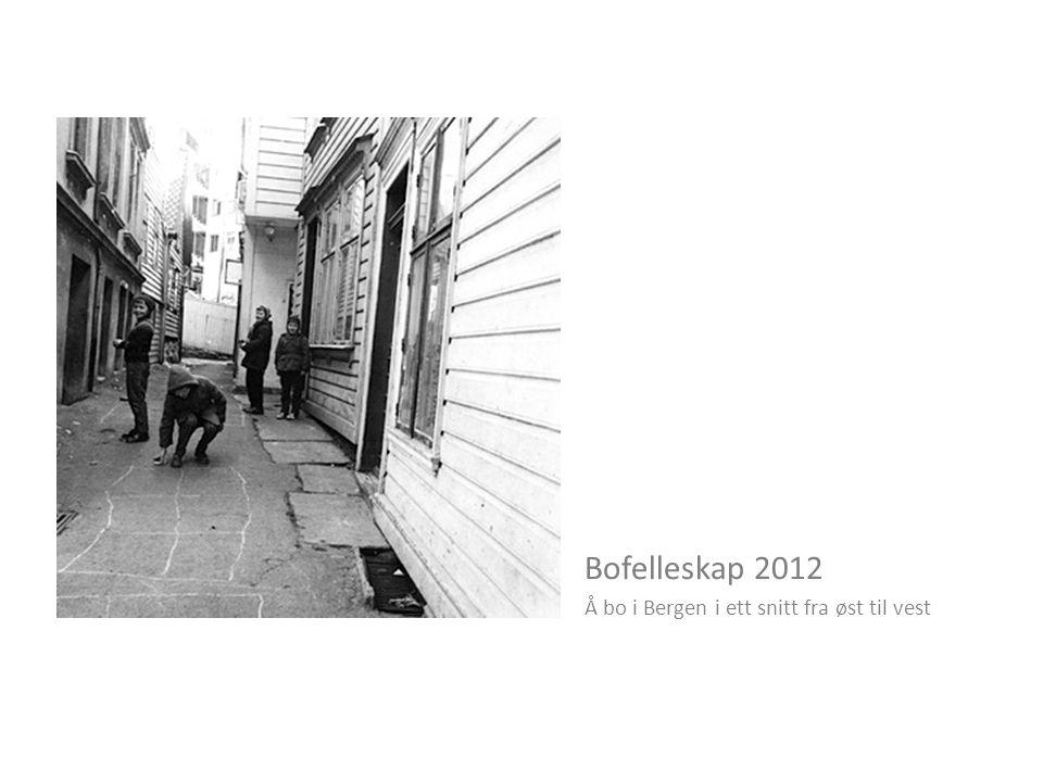 Bofelleskap 2012 Å bo i Bergen i ett snitt fra øst til vest
