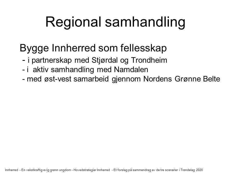 Innherred - En vekstkraftig evig grønn ungdom - Hovedstrategier Innherred - Et forslag på sammendrag av de tre scenarier i Trøndelag 2020 Regional sam
