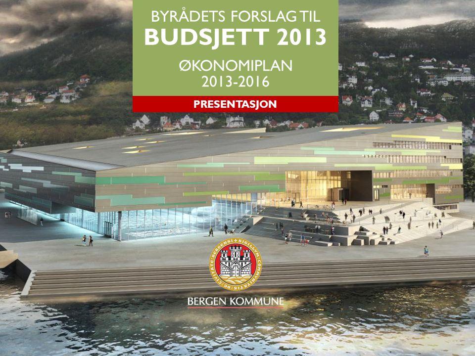 BYRÅDETS FORSLAG TIL BUDSJETT 2013 ØKONOMIPLAN 2013-2016 PRESENTASJON