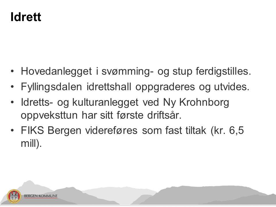 Idrett Hovedanlegget i svømming- og stup ferdigstilles.