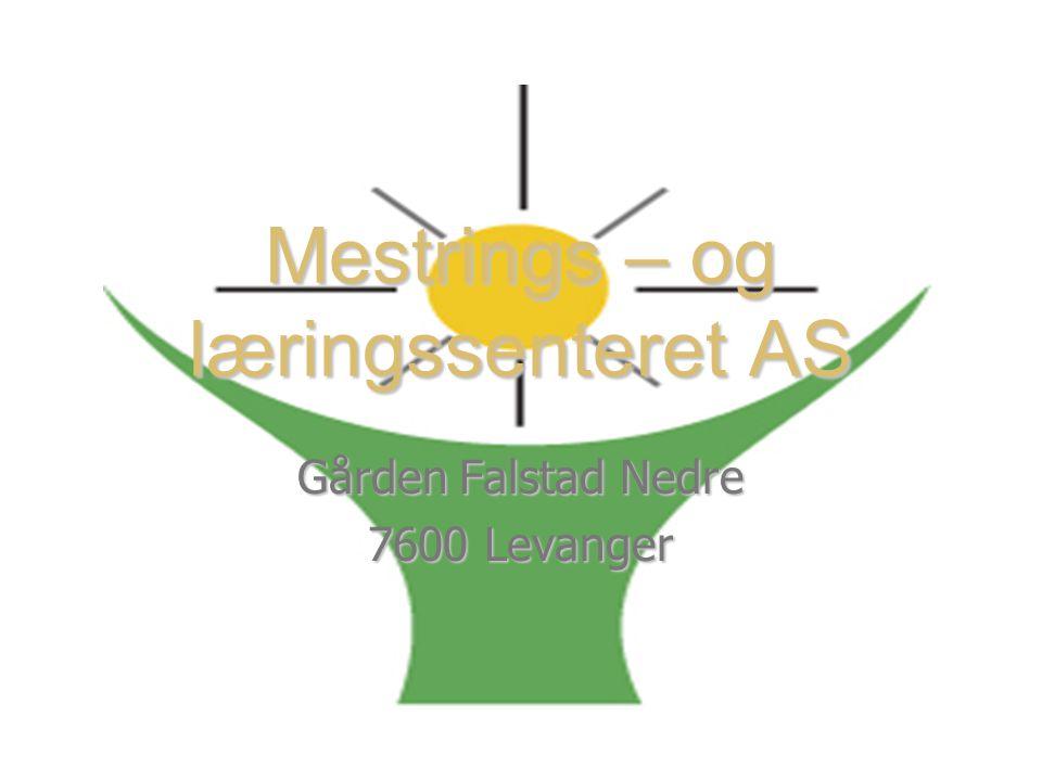 Mestrings – og læringssenteret AS Gården Falstad Nedre 7600 Levanger