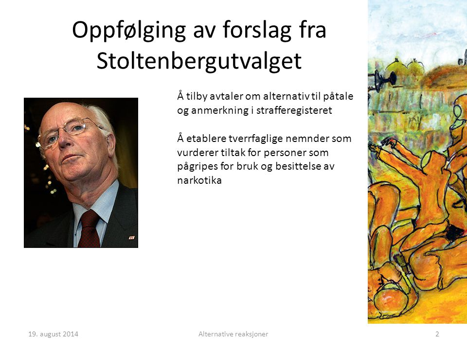 3Alternative reaksjoner I 2009 ble det registrert 7592 lovbrudd i form av bruk og besittelse av narkotika og mindre narkotikaforbrytelser blant unge i alderen 15-29 år Det ble gitt totalt 8965 forelegg for denne typen lovbrudd i 2009 Om lag 60 % av innsatte i norske fengsler har rusproblemer