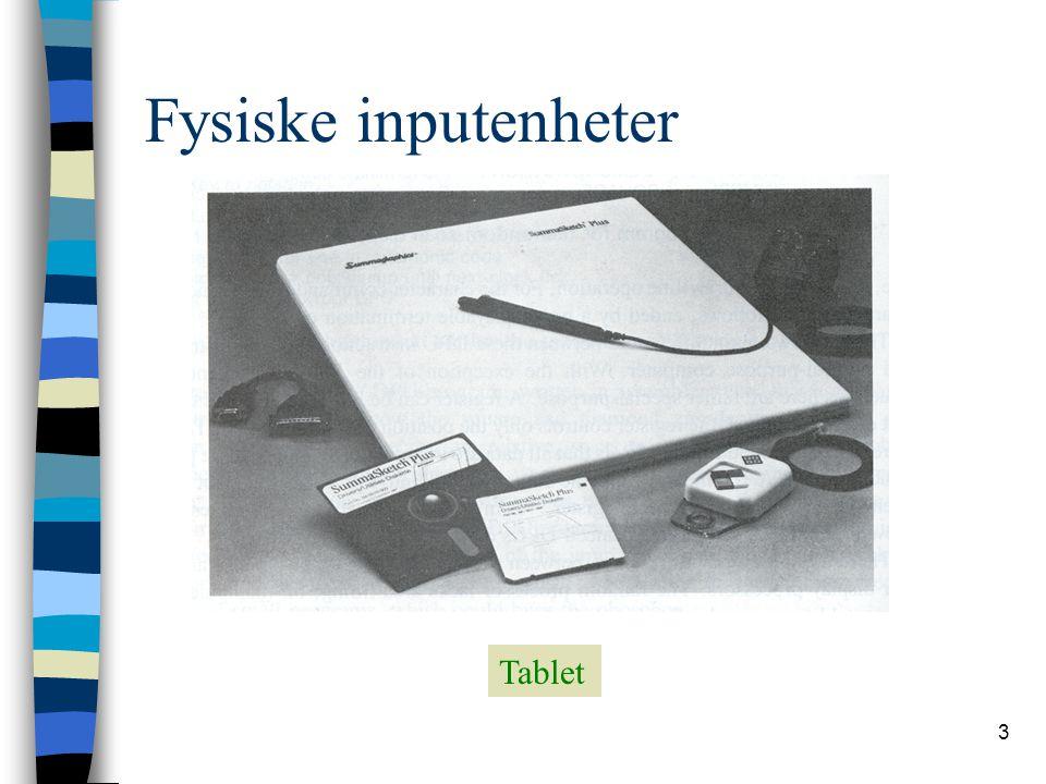 3 Fysiske inputenheter Tablet