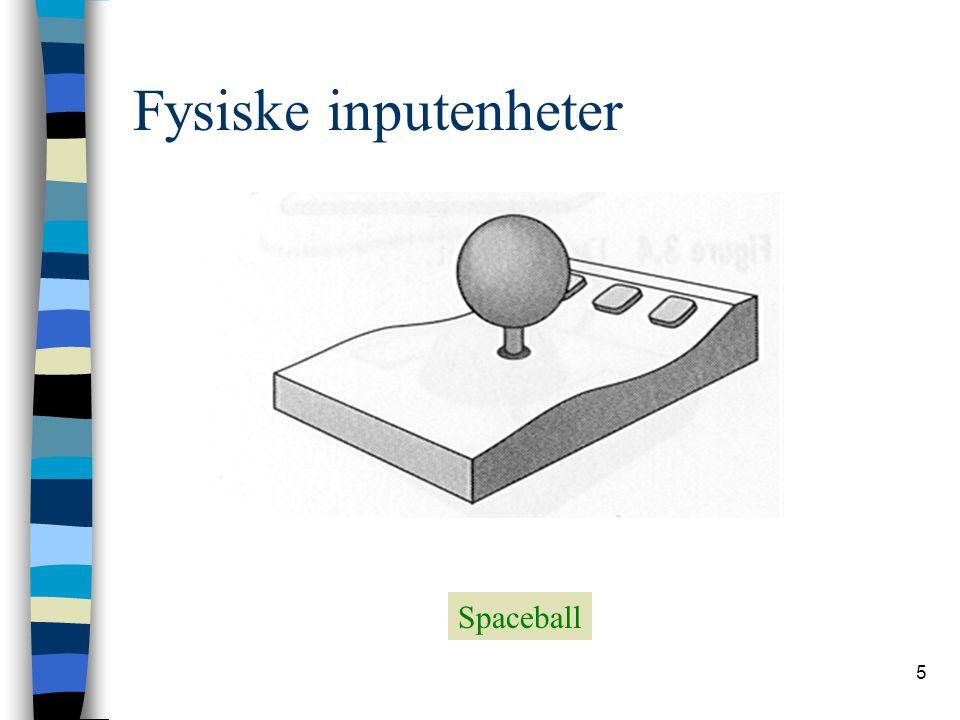 5 Fysiske inputenheter Spaceball