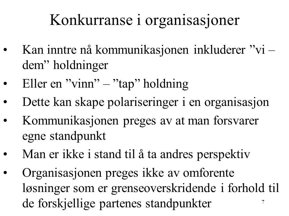 18 Makt og innflytelse i organisasjoner s.