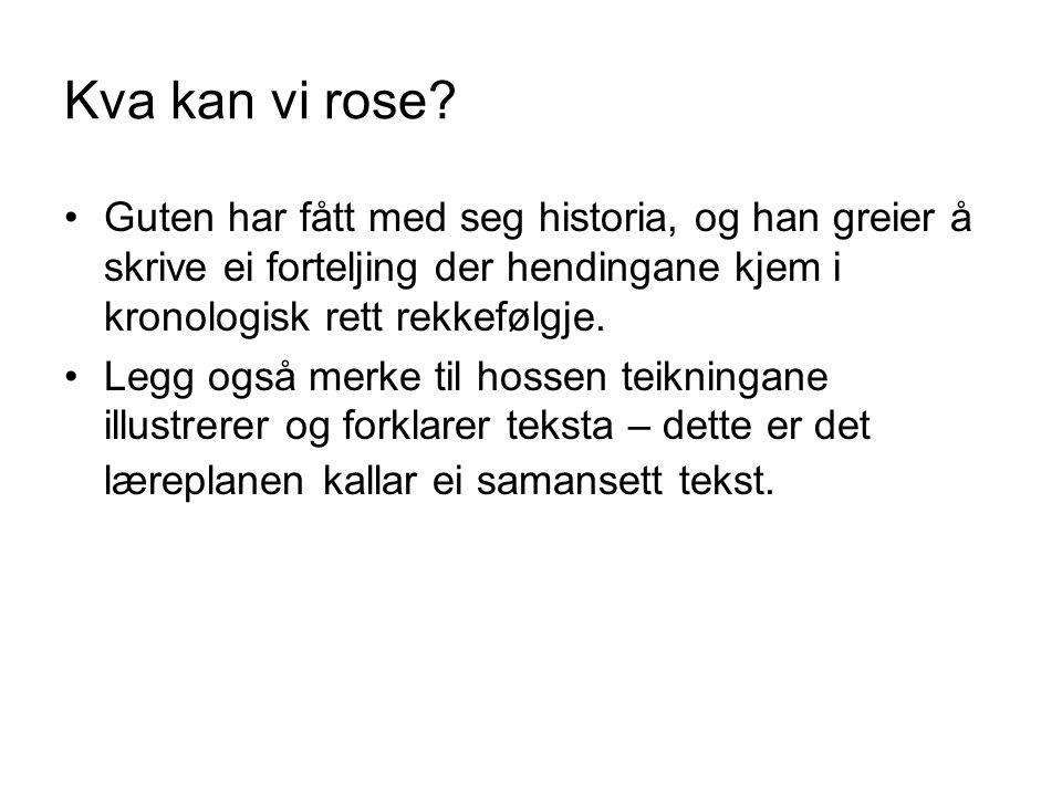 Kva kan vi rose.