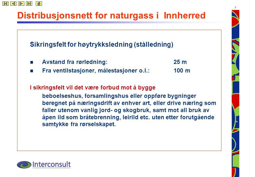 8 Distribusjonsnett for naturgass i Innherred
