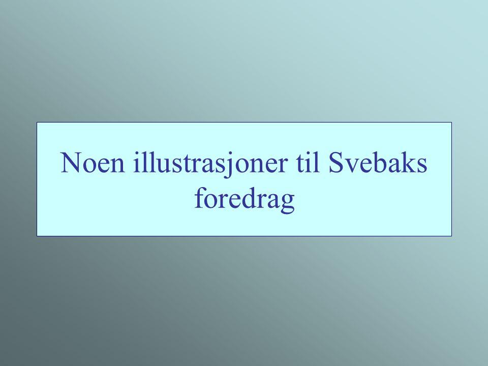 Noen illustrasjoner til Svebaks foredrag