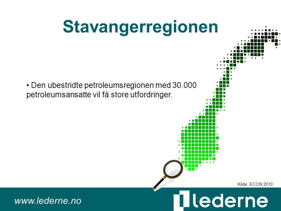 www.lederne.no Stavangerregionen Den ubestridte petroleumsregionen med 30.000 petroleumsansatte vil få store utfordringer.