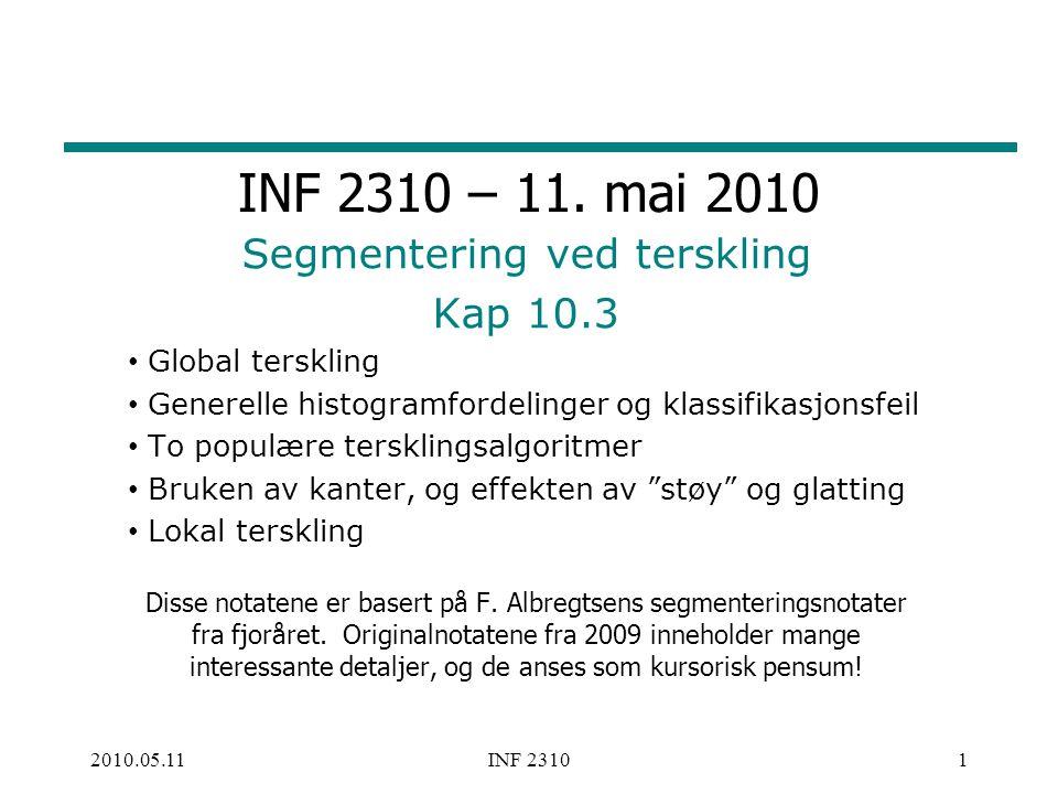 2010.05.11INF 23102 Hva er segmentering.