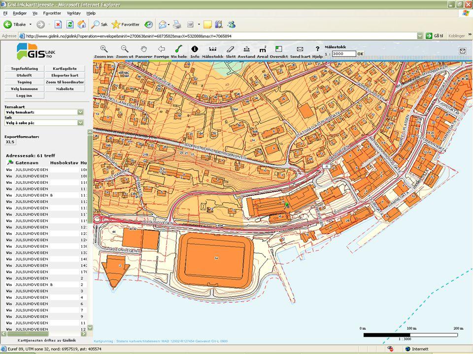 Utskrift av flyfoto m/støttetema 1 Velg temakart: flyfoto m/støttetema fra nedtrekksmenyen