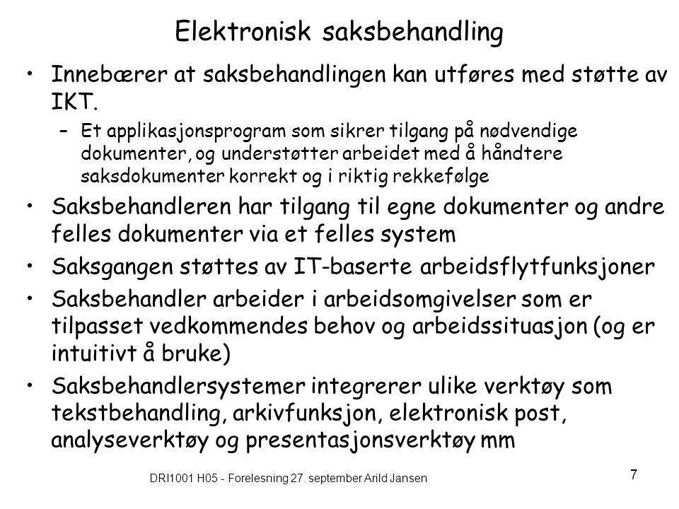 DRI1001 H05 - Forelesning 27.